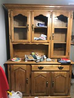 Wood Buffet and Hutch please contact for $$