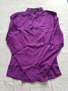 Preloved Express Purple Long Sleeves (XS)