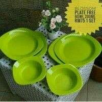 Blossom Plate (4) free bowl 2pcs