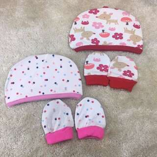 Mittens and Bonnet for baby