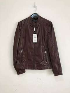 Zara Man Leather Effect Jacket Authentic