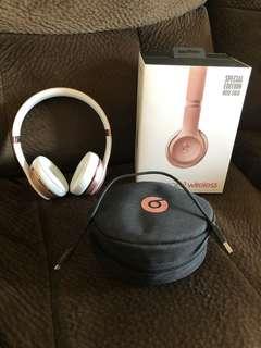 Rose Gold Beats Solo3 Wireless