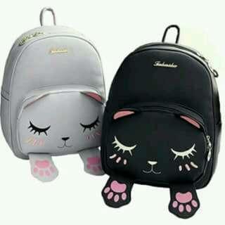 Meow bag/tas meow kaki magnet