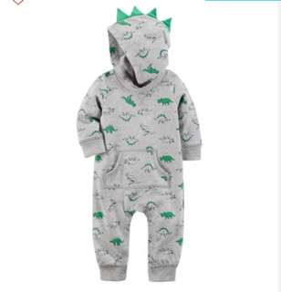 *24M* BN Carter's Dino Jumpsuit For Baby Boy