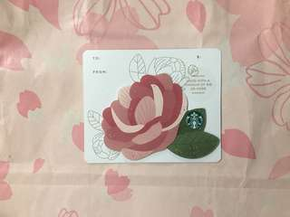 🇺🇸 Starbucks Card Happy Mothers Day Mini Die Cut Flower Gift Card
