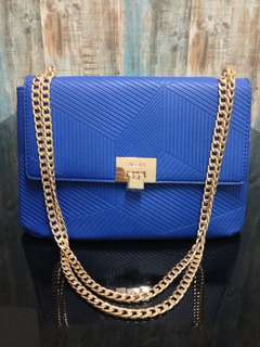 💯ALDO Embossed Flap Chain Crossbody Handbag
