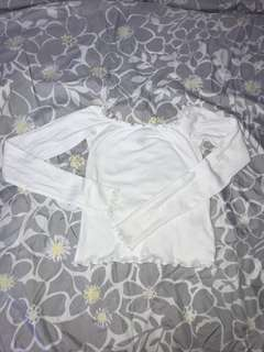 White Off Shoulder Top F21 Size Small