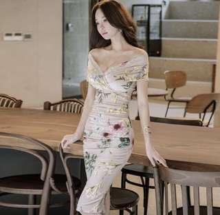 Fiona Floral Off Shoulder Dress