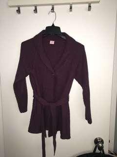 Purple warm cardigan