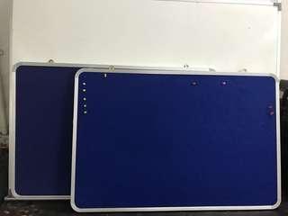 Clearance sales-2 blue felt notice board