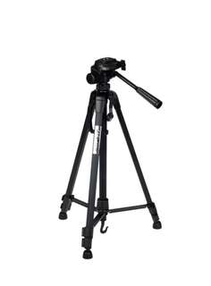 Weifeng WT-3520 Portable Lightweight 3 way Pan Head Aluminum Alloy Professional Tripod Dual Bubble Levels SLR Camera Handphone DV Camcorder