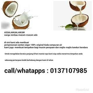Santan kelapa segar
