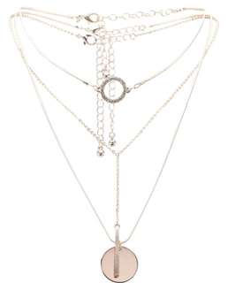 Necklace/Chain Circle Choker Layering