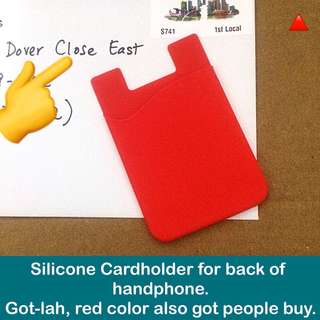 Silicone Cardholder for Cellphone ( handphone / mobile phone card holder pouch) [practical gifts handicraft uncle.anthony uncle anthony uac] FOR MORE PICS & DETAILS, 👉 http://carousell.com/p/119403435