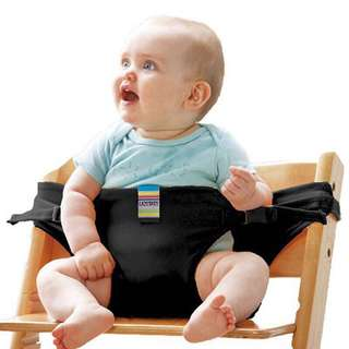 BLACK Baby portable belt chair
