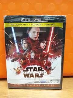 USA Blu Ray 4K UHD - Star Wars Last Jedi 4K (ATMOS)