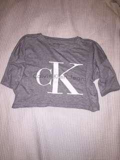 Calvin Klein crop tshirt