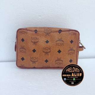 ASSALAMUALAIKUM AUTHENTIC MCM MINI CLUCTH BAG. MADE IN GERMANY. CONDITION 9/10. BERMINAT PM/0165144439