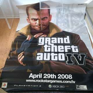 Grand Theft Auto IV  Huge Poster