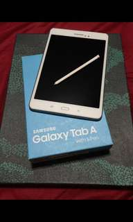 Samsung Tab A 16gb White with Case