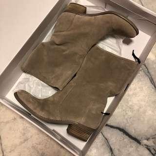Nine West Beige Suede Boots