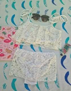 Lace 2piece swimsuit 👙