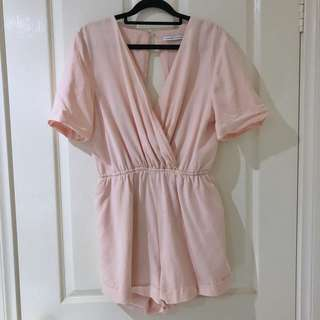 (M/L) Finders Keepers Light Pink Playsuit