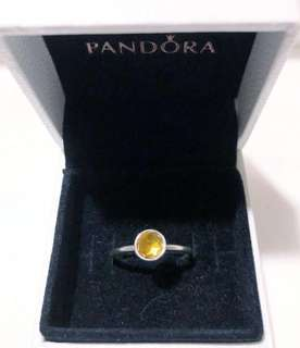 💜 Authentic Pandora Citrine Ring