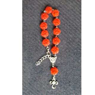 Flower design Rosary Bracelet with latch Souvenirs and Giveaways