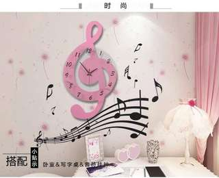 Music Picture Frame with Wall Clock