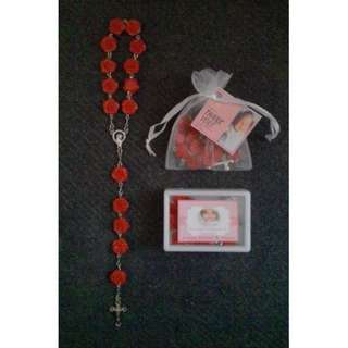 Flower design Pocket Rosary Souvenirs and Giveaways