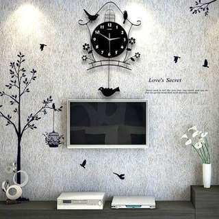 Birds Picture Frame with Wall Clock