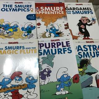 Smurf comic books x6