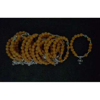 Wood with design Rosary Bracelet Souvenir and Giveaways