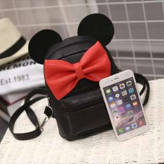 Minnie Mouse Ear Bow Backpack