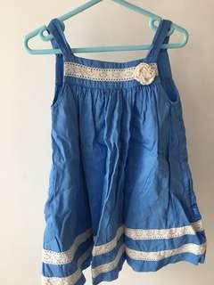 Pumpkin patch blue dress