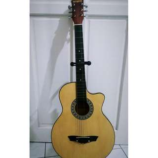 Acoustic Guitar (with guitar stand and bag)