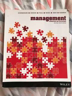 Management: foundations and applications textbook