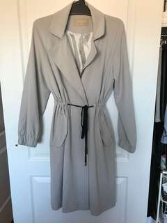 Forcast Grey Trench Coat