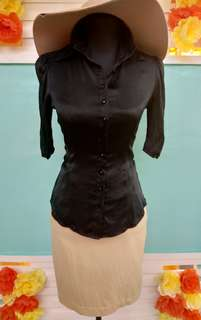 BeBe Satin Black Top