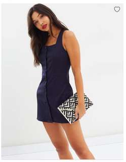 Lioness Chasing Feelings Navy Dress Brand New Size XS