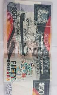 Old Singapore ship series 50 notes