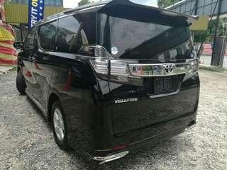 Toyota vellfire 2.5 2016 unreg