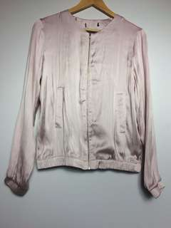 Pink silky jacket
