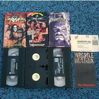 kaset video jadul VHS wwf
