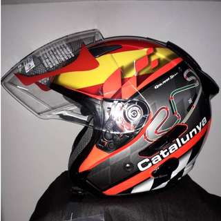 KYT Galaxy Slide Catalunya GP RC Helm Half Face