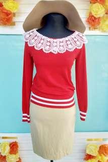 Red Cute Sweat shirt