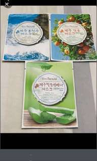 3 For $8. Brand New Korea Face Masks