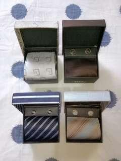 Tie & Cufflinks Set @ P100 each