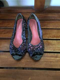 Chelsea Black Lace Shoes
